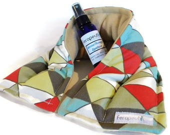 Microwave Heating Pad Neck Wrap, Unscented or Herbal Aromatherapy Moist Heat for Chronic Pain Relief