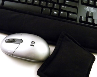Computer Keyboard Wrist Rest Mouse Wrist Support for Men or Women,  Gift for Him Geek Kit,  solid black