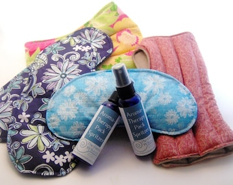 Natural Essential Oil aromaTHERAPY Pack Spritzers for microwave heating pads, natural heat pack sprays