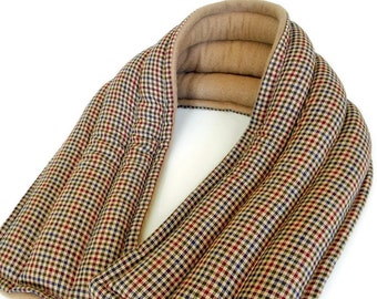 Long Large Microwave Neck Wrap, Masculine Spa Wrap Heat Therapy Bag, Oversized for Him