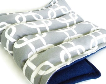 Heating Pad for Hips or Back and Sciatic Pain, Large Hot Cold Pack in Grey and White