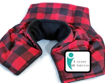 Microwave Heating Pad, Cotton Flannel Rice Bag, Neck Shoulder Coverage, Three Sizes to Choose