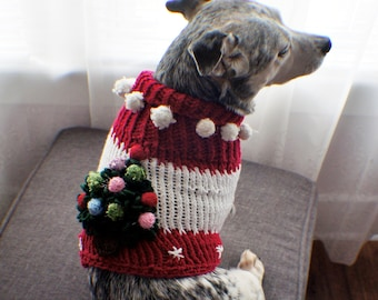 Christmas Dog Sweater Ugly Christmas Sweater Dog Sweater Small Dog Sweater Knit sweater Pet Sweater-Dog Warm Clothes Multiple sizes