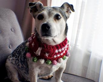 Christmas Dog Scarf Ugly Christmas Scarf Dog Scarf Small Dog Scarf Knit Scarf Pet Scarf Dog Warm Clothes Multiple sizes