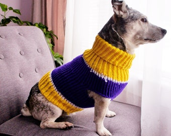 Dog Sweater Team Colors Knit Dog Sweater Small Dog Sweater Chihuahua sweater Pet Sweater-Dog Warm Clothes Multiple sizes