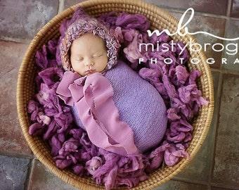 Wool Fluff Basket Stuffer, Newborn Photo Prop, Merino Baby Prop, Wool Basket Filler