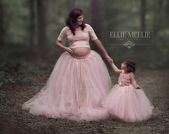 Gorgeous Flower Girl Dress, Photo Prop, Flower Girl Dress, Blush Pink, Flower Top, Tutu Dress