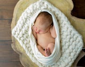 SALE Big bumpy blanket, Layering blanket, Photo prop, Newborn layering blanket, Chunky wool mini blanket, Photo prop blanket Merino Blanket