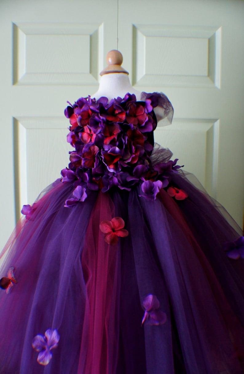 ae86cb1a2ed Flower Girl Dress Tutu Dress Photo Prop in Purple and Dark
