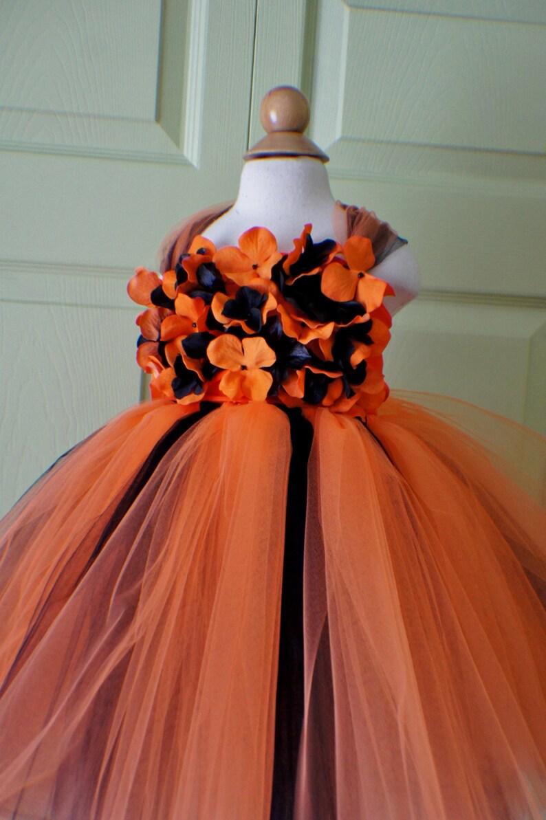53fbb9c50ba3 Flower girl dress Flower Gril Tutu Dress Orange and Black | Etsy