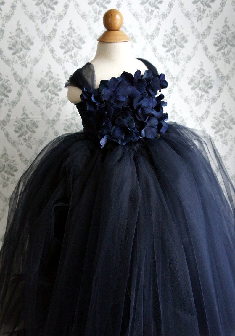 7d59e3275cfa Flower girl dress Navy Blue tutu dress Girls Dress flower