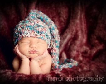 SALE Baby Hat, Baby Photo Prop, Newborn Hat, Stocking Hat, Newborn Photo Prop, Knit Baby Hat