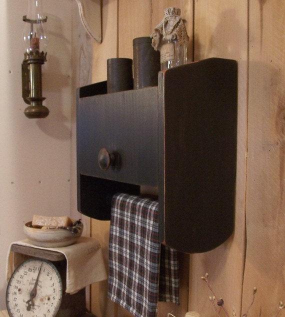 Primitive Cabinet Towel Rack Spice Cabinet For Kitchen Toilet Etsy