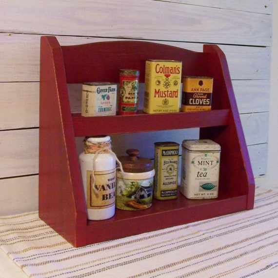 Step Back Spice Rack Farmhouse Style Kitchen Storage Barn