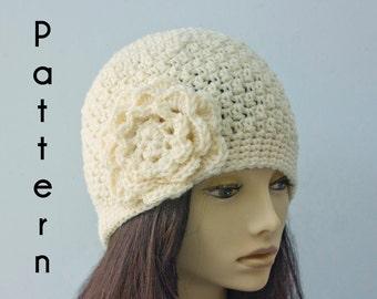 1920 s Flapper Hat Crochet Pattern Crochet Cloche Hat  2789a4f917f