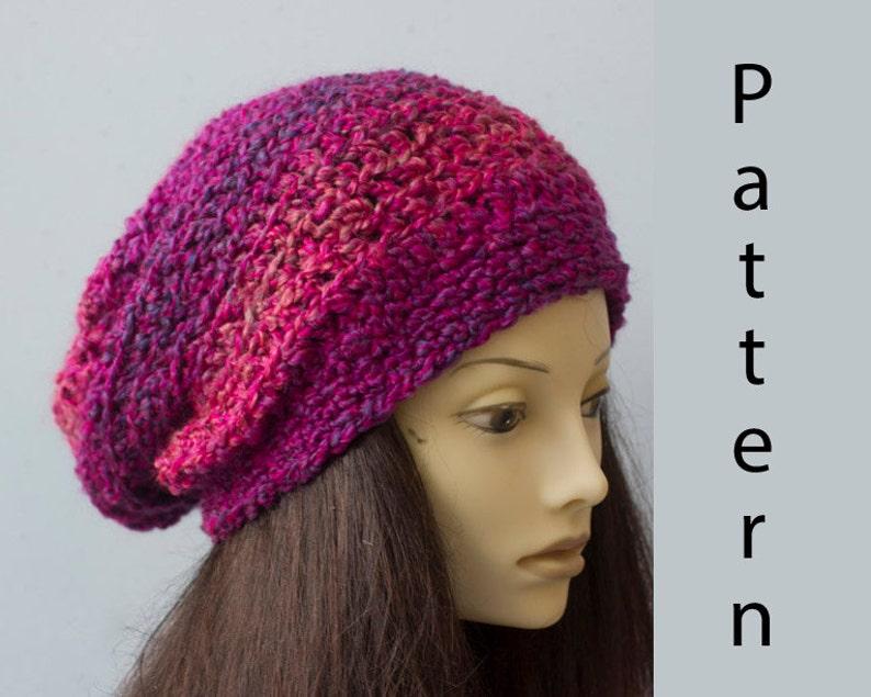 261771b446c Easy Crochet Pattern Slouchy Beanie Crochet Pattern Instant