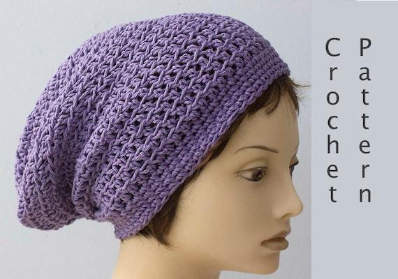 072a43e9917 Cotton Slouchy Beanie Crochet Pattern Summer Crochet Hat