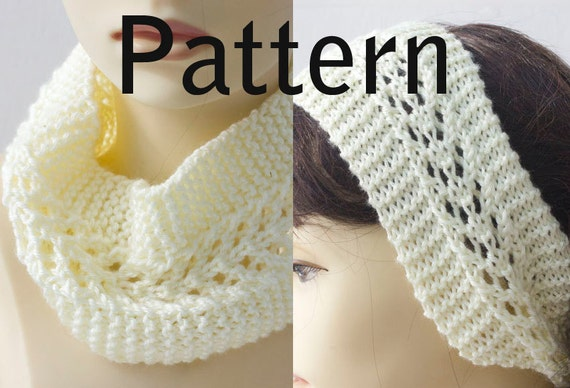 Knitting Pattern For Lace Headband Knit Ear Warmer Pdf Etsy