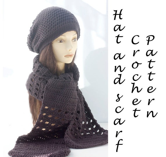 Hat And Scarf Crochet Pattern Instant Download Two Pdf Etsy