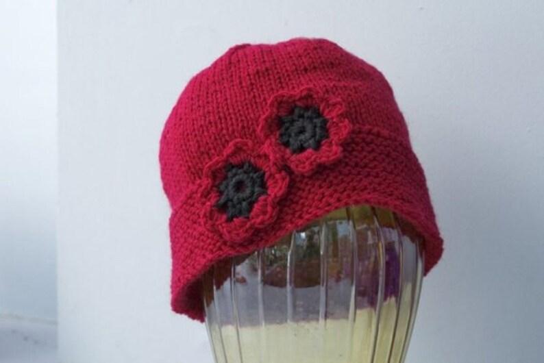 Chose Color Winter Hat Flower Hat for Women Knit Cloche Hat