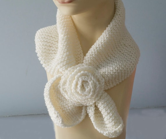 Pdf Scarf Knitting Pattern Download Neck Warmer Keyhole Etsy