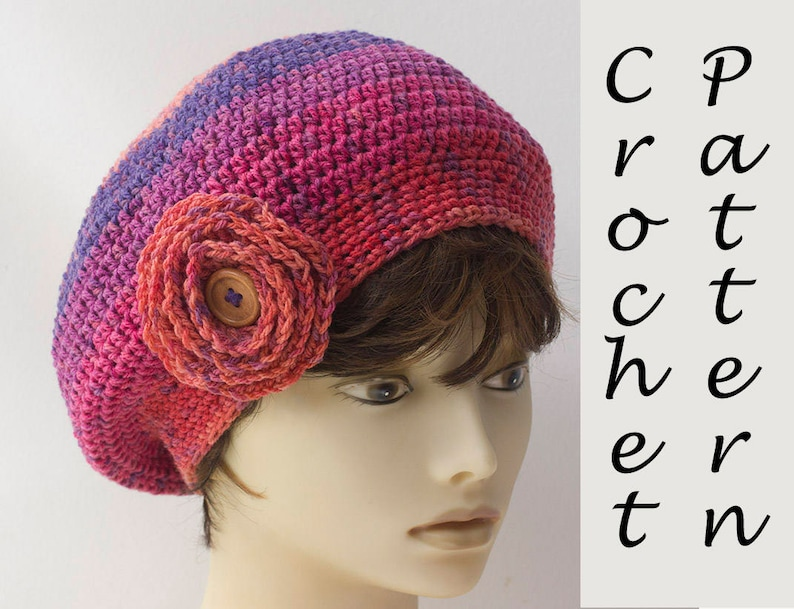 Caron Cupcakes Crochet Pattern Beret Hat Pattern with  14697fd678a