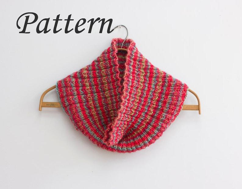 Cowl Knitting Pattern Infinity Scarf Pdf Knitting Pattern For Etsy