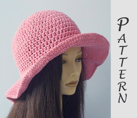 Wide Brim Sun Hat Crochet Pattern for Cotton Yarn Easy  66a984233e4