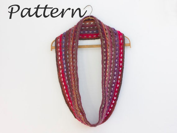 Circle Scarf Pattern Cowl Crochet Pattern Instant Download Etsy