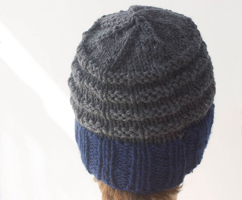 Easy Men's Chunky Hat Knitting Pattern for Bulky Yarn | Etsy