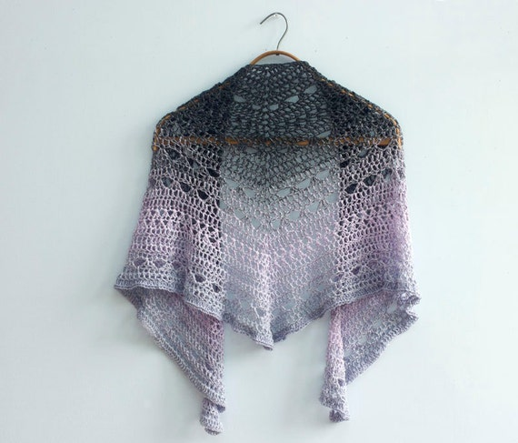 Crochet Shawl Pattern Lace Shawl Triangle Shawl Crochet Etsy