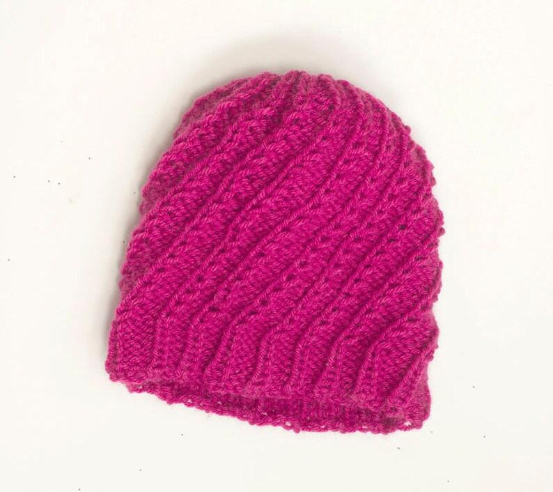 Easy Hat Knitting Pattern Knit Beanie Hat PDF Pattern ...
