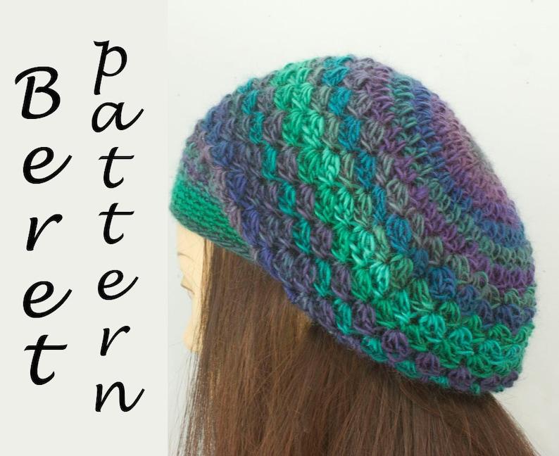 adf2670a2a4 Beret Crochet Pattern Easy Crochet Hat Pattern Instant
