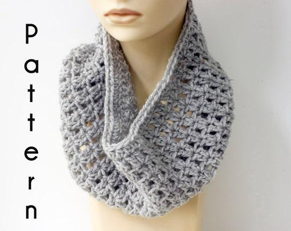 Fast Easy Cowl Crochet Pattern Simple Neck Warmer Pattern Etsy