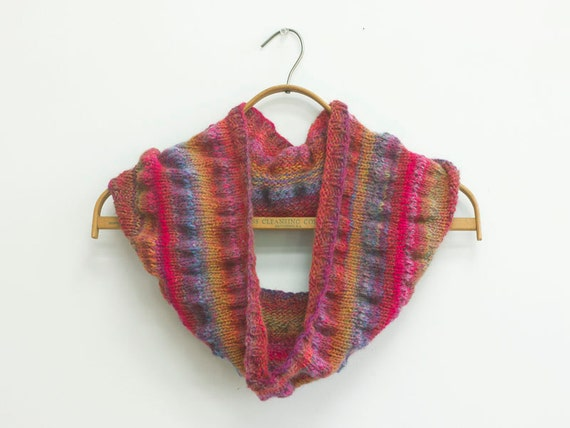Ruched Cowl Knitting Pattern Instant Download Circle Scarf Etsy