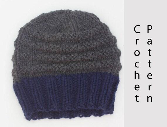 Chunky Hat Knitting Pattern Mens Knit Hat Pattern Beanie Pdf Pattern Winter Hat Pattern Instant Download
