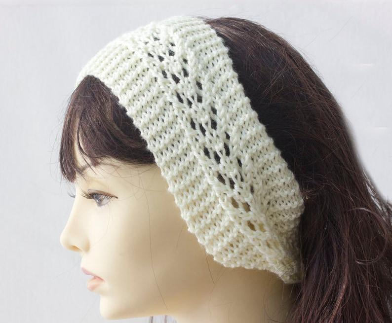Easy Lace Headband Knitting Pattern Knit Head Band Pattern ...