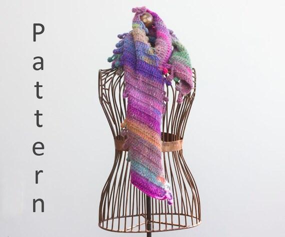 Easy Scarf Crochet Pattern, Boho Scarf PDF Pattern, Red Heart Unforgettable  Yarn Pattern