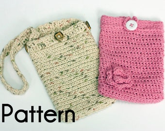 Kindle Cover Crochet Pattern, Two Kindle Carrying Case Patterns, Digital Download PDF Crochet Patterns