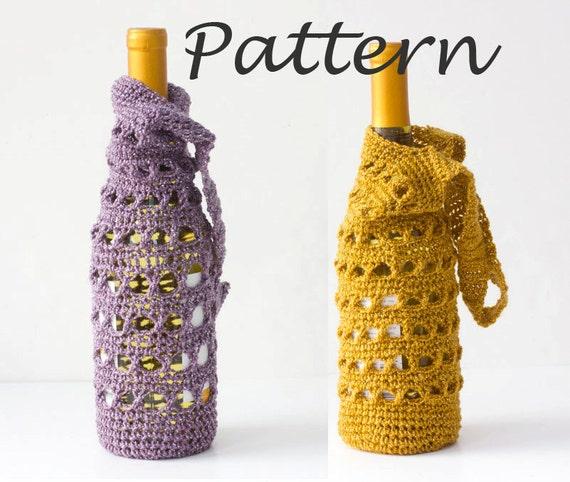Wine Tote Crochet Pattern Wine Bottle Gift Bag Pdf Crochet Etsy