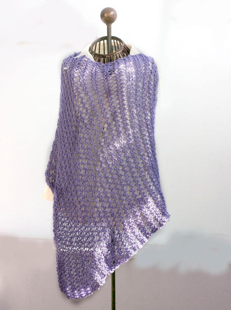 Easy Boho Wrap Knitting Pattern Hippie Poncho PDF Knitting ...