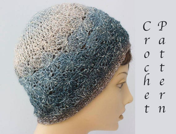 Hat Crochet Pattern Lace Hat Pattern Instant Download Pdf Etsy