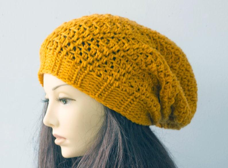 Easy Fast Crochet Slouchy Hat Pattern Slouchy Beanie Crochet  15fb9bbfaa6