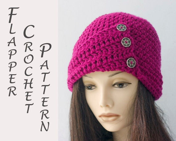 1920s Flapper Hat Crochet Pattern Crochet Cloche Hat Etsy