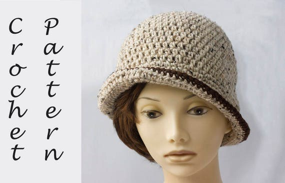 1920s Flapper Hat Pattern Cloche Hat Crochet Pattern Etsy
