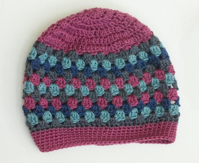 Crochet Pattern Slouchy Hat Granny Square Slouch Hat Etsy
