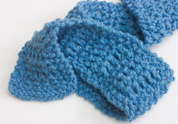 One Skein Scarf Knitting Pattern Fast Easy Chunky Knit Scarf Etsy