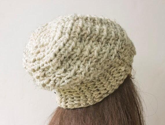 Easy Slouchy Beanie Crochet Pattern Instant Download Hat Etsy