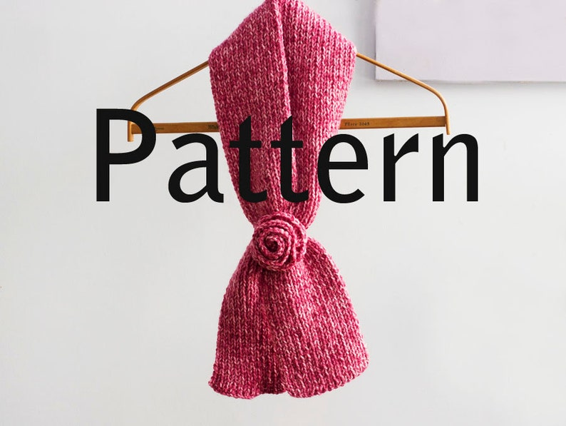 Easy Keyhole Scarf Knitting Pattern Neck Scarf Knit ...