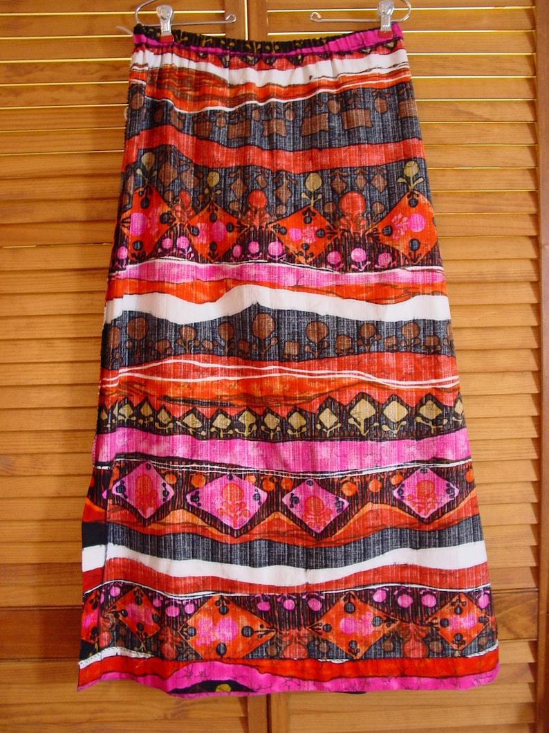 Maxi Mod Skirt,Hippie 60/'s 70/'s Size Large